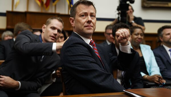 FBI Deputy Assistant Director Peter Strzok testifies before the the House Committees on the Judiciary and Oversight and Government Reform during a hearing on Oversight of FBI and DOJ Actions Surrounding the 2016 Election, on Capitol Hill, Thursday, July 12, 2018, in Washington.  - Sputnik International