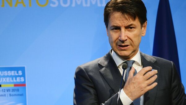 Prime Minister of Italy Giuseppe Conte at the NATO summit of heads of state and government, Brussels - Sputnik International