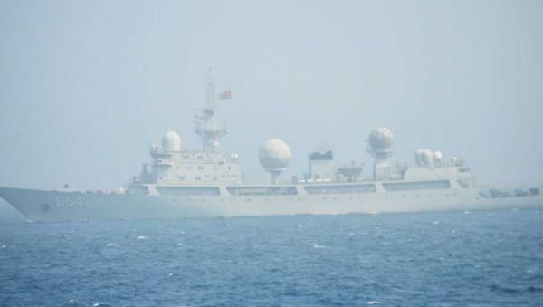 Chinese People's Liberation Army Navy (PLAN) Type 815 Dongdiao-class surveillance vessel - Sputnik International