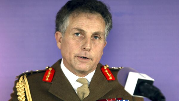 In this Jan. 10, 2017 file photo, British Army chief General Nick Carter makes a speech during the launch of the army's leadership doctrine at the BT Tower in central London - Sputnik International