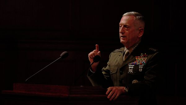 Gen. James Mattis, the head of U.S. Central Command, takes questions after delivering a lecture to the London think tank Policy Exchange in London, Tuesday, Feb. 1, 2011. - Sputnik International