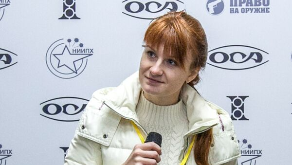 Mariia Butina, leader of a pro-gun organization, speaks on October 8, 2013 during a press conference in Moscow - Sputnik International
