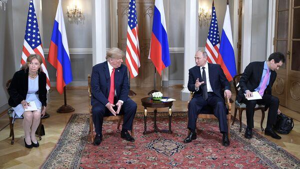 Meeting of US President Donald Trump and Russian President Valdimir Putin in Helsinki - Sputnik International