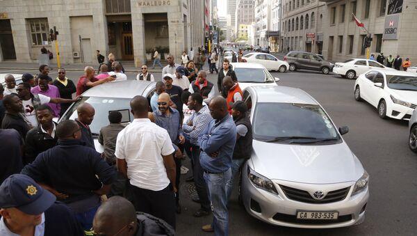 Members of the Uber taxi origination, South Africa (File) - Sputnik International