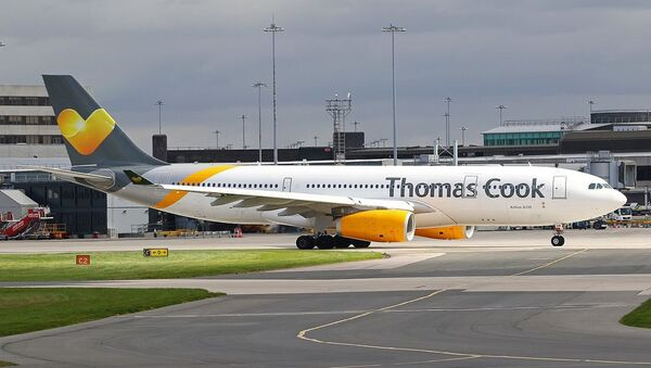 Thomas Cook Airlines Airbus A330-243 (G-VYGK) at Manchester Airport - Sputnik International