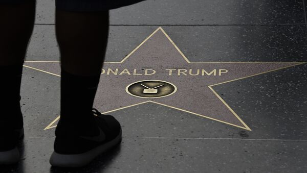 (File) Republican presidential candidate frontrunner Donald Trump's star on the Hollywood Walk of Fame in seen, September 10, 2015 in Hollywood, California - Sputnik International