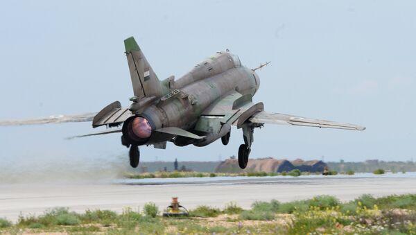Su-22 jet of the Syrian Air Force. File photo - Sputnik International