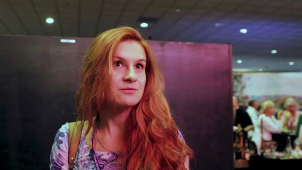 Accused Russian national Maria Butina speaks to camera at 2015 FreedomFest conference in Las Vegas, Nevada, U.S., July 11, 2015 in this still image taken from a social media video obtained July 19, 2018 - Sputnik International