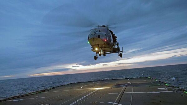 Royal Navy Wildcat helicopter - Sputnik International