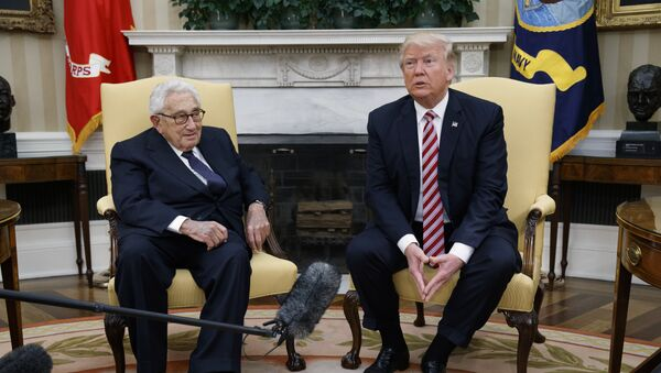 President Donald Trump meets with Dr. Henry Kissinger, former Secretary of State and National Security Advisor under President Richard Nixon, in the Oval Office of the White House, Wednesday, May 10, 2017, in Washington - Sputnik International