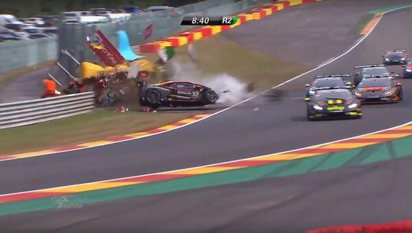 Lamborghini Super Trofeo Europe 2018 - Spa - Race 2 (Crash) - Sputnik International