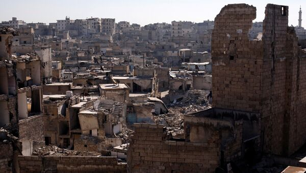 A general view shows damaged buildings at al-Kalasa district of Aleppo, Syria in Aleppo, Syria, February 2, 2017 - Sputnik International
