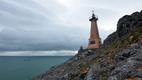 A lighthouse on Cape Dezhnyov in the Chukotka Autonomous Area - Sputnik International