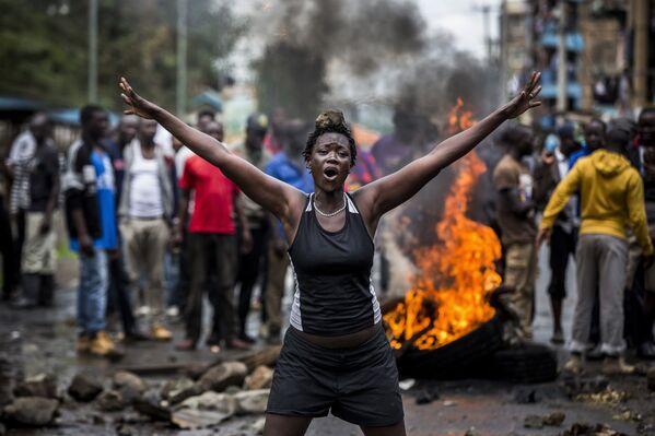 Беспорядки в Кении после выборов - Sputnik International