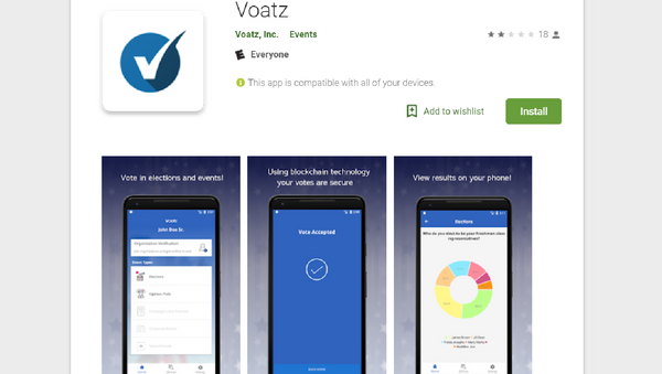 The Voatz app will allow some West Virginian overseas voters to cast their ballot from their smartphones. - Sputnik International