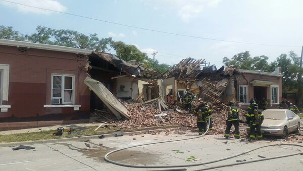 The aftermath of a natural gas explosion in an apartment in Denver, Colorado, August 14, 2018. - Sputnik International