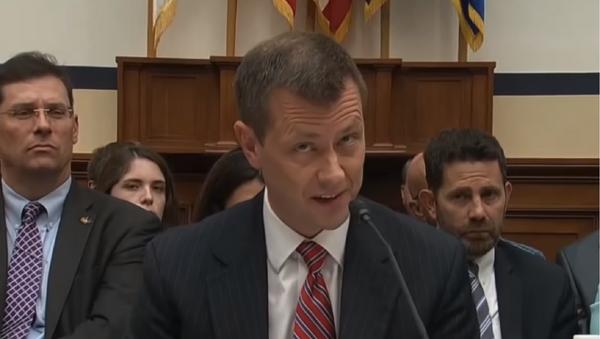 Recently fired FBI agent Peter Strzok testifies before congress prior to his sacking. - Sputnik International