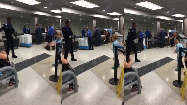 Pre-Flight Flossing: TSA Officer's Dance Skills Receive Screening - Sputnik International