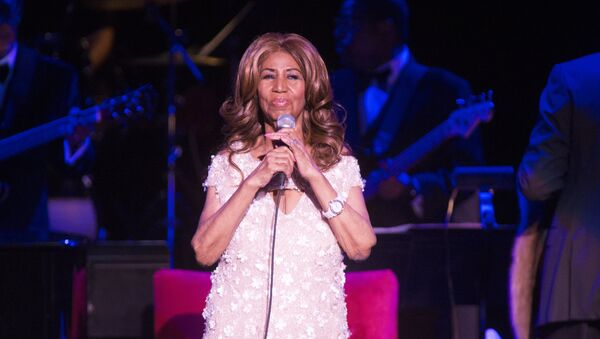 Aretha Franklin performs in concert at The Mann Center for the Performing Arts on Saturday, Aug. 26, 2017, in Philadelphia. - Sputnik International
