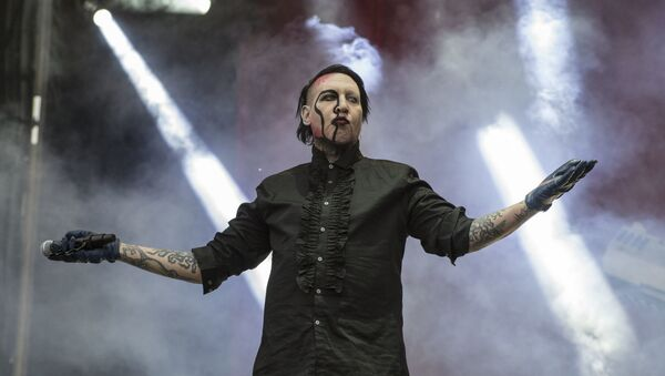 U.S. singer Marilyn Manson performs at the Hell and Heaven music festival in Mexico City, Saturday, May 5, 2018 - Sputnik International