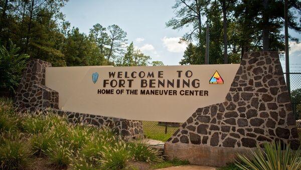 A welcome sign at the U.S. Army's Ft. Benning base. - Sputnik International