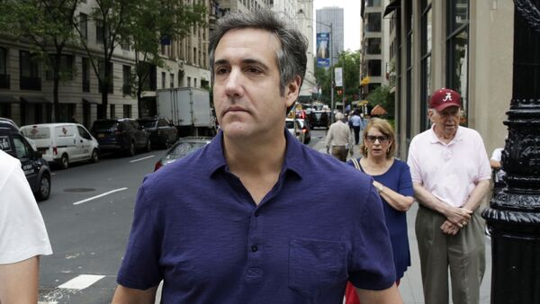 Michael Cohen, formerly a lawyer for President Trump, leaves his hotel Monday, July 30, 2018, in New York. - Sputnik International