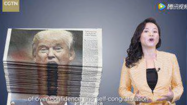 China Global Television Network publishes satirical video thanking US President Donald Trump for trade policy - Sputnik International