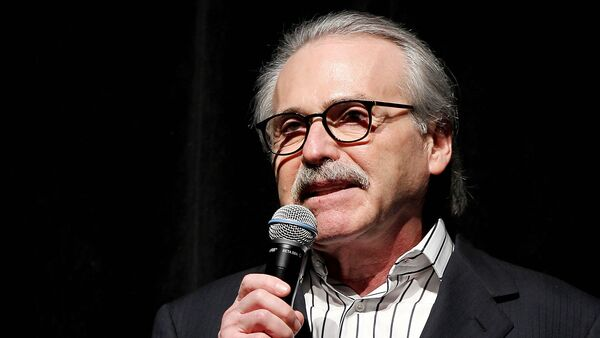 In this Jan. 31, 2014 photo, David Pecker, Chairman and CEO of American Media, addresses those attending the Shape & Men's Fitness Super Bowl Party in New York. - Sputnik International