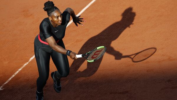 Serena Williams of the U.S. plays a shot against Germany's Julia Georges during their third round match of the French Open tennis tournament at the Roland Garros stadium in Paris, France, Saturday, June 2, 2018. - Sputnik International