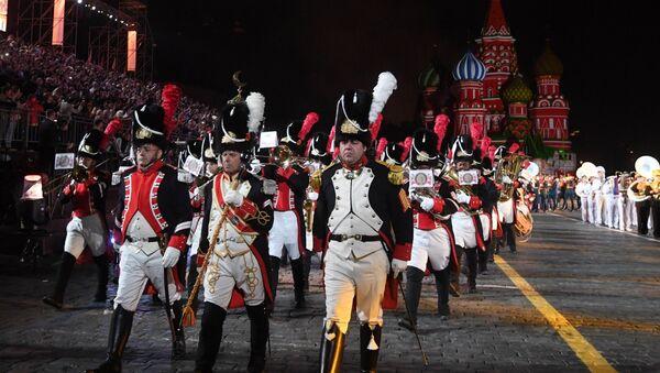 Int'l Military Music Festival 'Spasskaya Tower' Starts in Moscow - Sputnik International