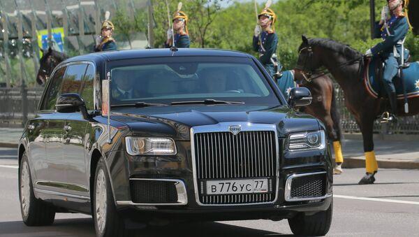 May 7, 2018. An Aurus car of the Russian president's motorcade - Sputnik International
