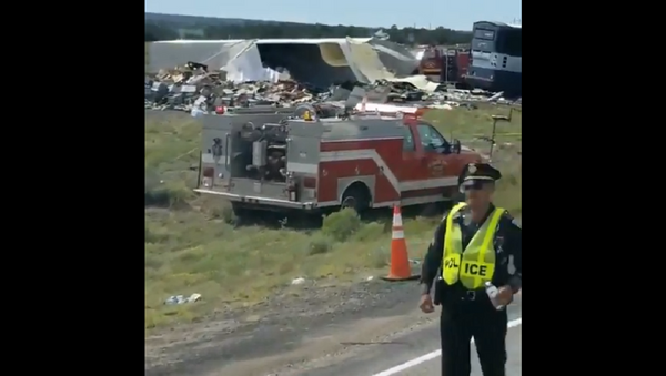 A Greyhound commercial transportation bus traveling westbound from Albuquerque to Phoenix, Arizona crashed with 47 people on board on Thursday resulting in multiple fatalities. Multiple serious injuries are also reported. - Sputnik International