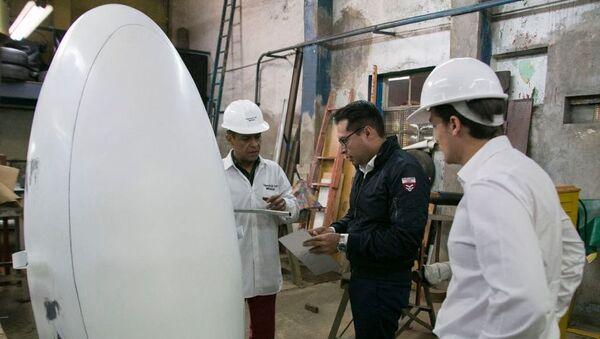 Taller en México donde se confeccionó el prototipo de la cápsula antisísmica K107 - Sputnik International
