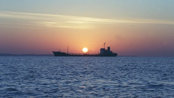 An Iranian water storage tanker sails off the coast of Qeshm Island 14 February 2001 in the Strait of Hormuz, one of the world's most important waterways (File) - Sputnik International