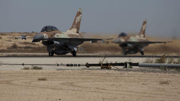 Israeli F-16a warplanes take off at the Nevatim air force base (File) - Sputnik International