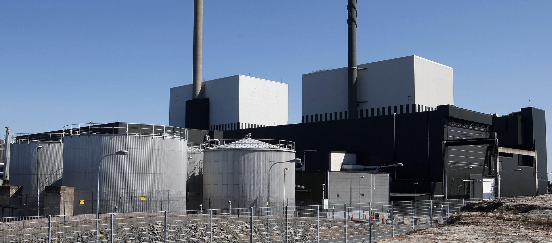 An exterior view of the Oskarshamn nuclear power plant in Oskarshamn, southeastern Sweden (File) - Sputnik International, 1920, 14.12.2020