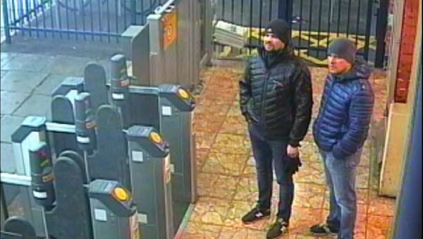 Alexander Petrov and Ruslan Boshirov, who were formally accused of attempting to murder former Russian intelligence officer Sergei Skripal and his daughter Yulia in Salisbury, are seen on CCTV at Salisbury Station on March 3, 2018 in an image handed out by the Metropolitan Police in London, Britain September 5, 2018 - Sputnik International
