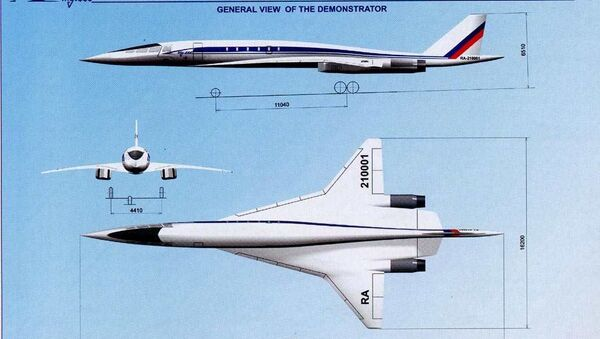 Tu-444, a 2000s supersonic airliner design once thought to have been scrapped by Tupolev. - Sputnik International