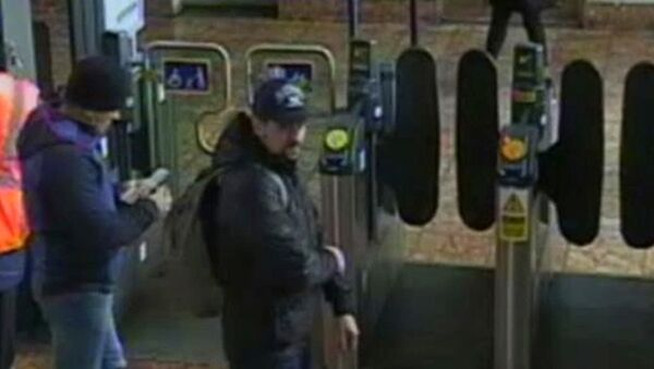 This still taken from CCTV and issued by the Metropolitan Police in London on Wednesday Sept. 5, 2018, shows Ruslan Boshirov and Alexander Petrov at Salisbury train station on March 4, 2018 - Sputnik International