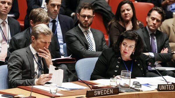 Karen Pierce at a Security Council Meeting. File photo. - Sputnik International