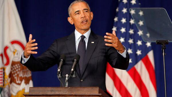 Former US President Barack Obama speaks at the University of Illinois Urbana-Champaign in Urbana, Illinois, US, September 7, 2018 - Sputnik International