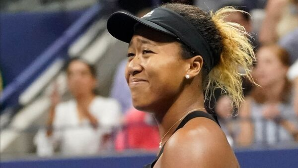 Naomi Osaka of Japan celebrates match point against Serena Williams of the USA in the women's final on day thirteen of the 2018 U.S. Open tennis tournament at USTA Billie Jean King National Tennis Center. - Sputnik International