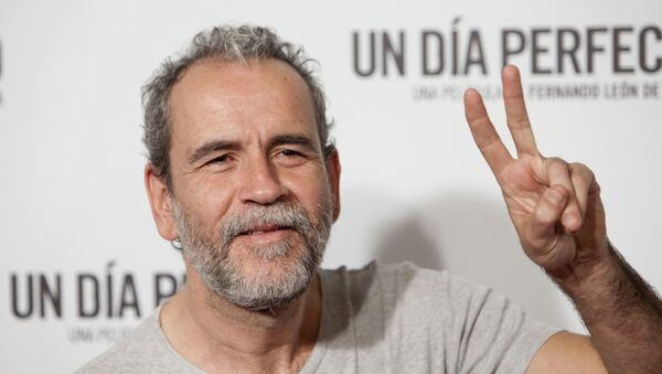Spanish actor Willy Toledo poses for photographers during the premiere of the film: 'A Perfect Day' in Madrid, Spain. Tuesday, August 25, 2015 - Sputnik International