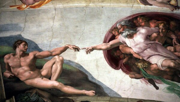 Michelangelo's fresco La Creazione (The Creation) on the ceiling of the Vatican's Sistine Chapel - Sputnik International