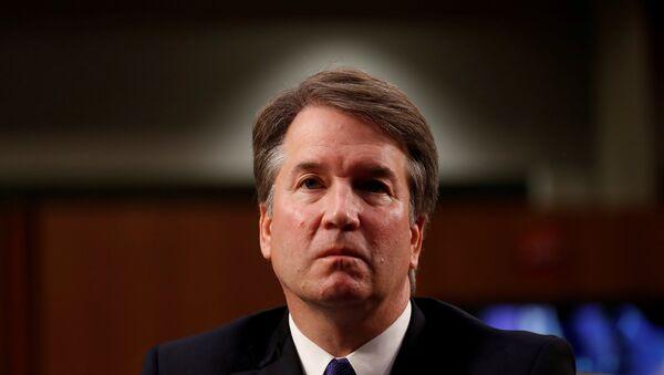U.S. Supreme Court nominee Judge Brett Kavanaugh listens during his U.S. Senate Judiciary Committee confirmation hearing on Capitol Hill in Washington, U.S., September 4, 2018. - Sputnik International