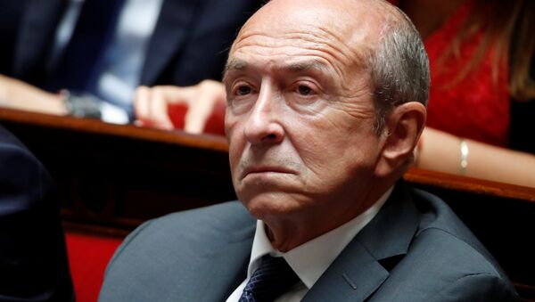 French Interior Minister Gerard Collomb listens to questions to the government session at the National Assembly in Paris, France, September 12, 2018 - Sputnik International