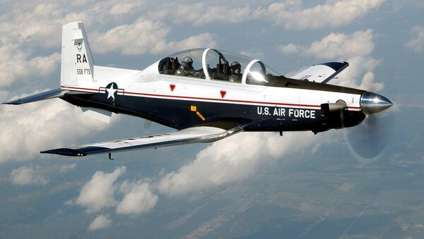 The T-6A Texan II is a single-engine, two-seat primary trainer designed to train Joint Primary Pilot Training, or JPPT, students in basic flying skills common to U.S. Air Force and Navy pilots. The trainer is phasing out the aging T-37 fleet throughout Air Education and Training Command. - Sputnik International
