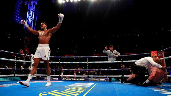 Anthony Joshua v Alexander Povetkin - WBA Super, IBF, WBO & IBO World Heavyweight Titles - Wembley Stadium, London, Britain - September 22, 2018 - Sputnik International
