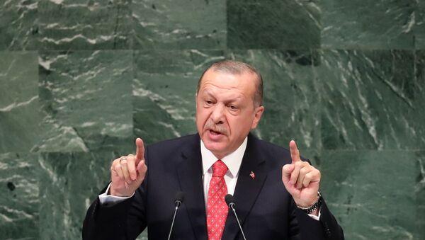 Turkey's President Recep Tayyip Erdogan addresses the 73rd session of the United Nations General Assembly at U.N. headquarters in New York, U.S., September 25, 2018. - Sputnik International