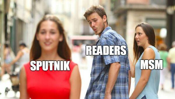 Distracted Boyfriend Meme - Sputnik International